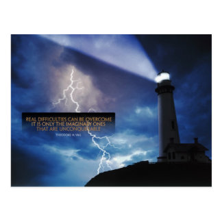 Overcome Difficulties Inspirational Postcard