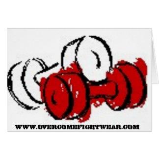 OVERCOME Fightwear Promo Card