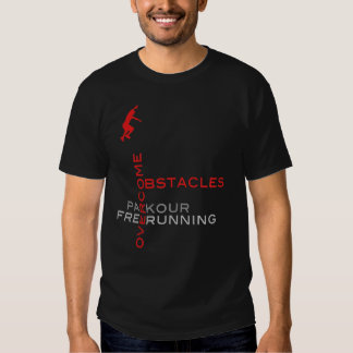 Overcome Obstacles :: On Black T Shirt