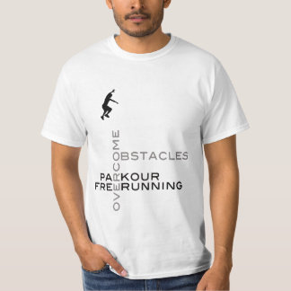 Overcome Obstacles :: On White T Shirt