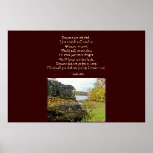 Overcome Poem Poster Fall Rock Design