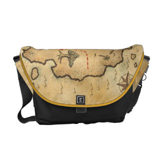 Overcome stock market map courier bag