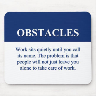Overcoming Obstacles to Success (2) Mouse Pad