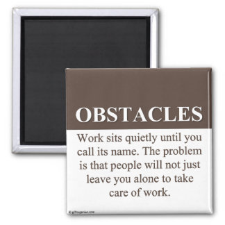 Overcoming Obstacles to Success (3) 2 Inch Square Magnet