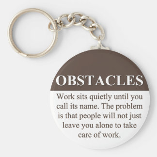 Overcoming Obstacles to Success (3) Keychain