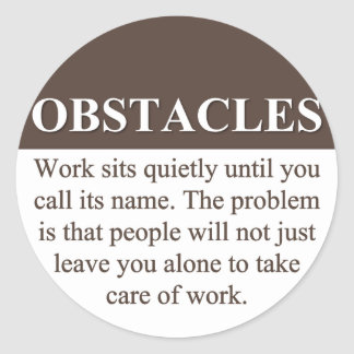 Overcoming Obstacles to Success (3) Sticker