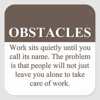 Overcoming Obstacles to Success (3) Stickers