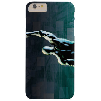 Overcoming Obstacles with Man Achieving Success Barely There iPhone 6 Plus Case