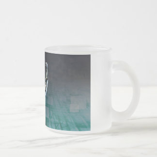Overcoming Obstacles with Man Achieving Success Frosted Glass Coffee Mug