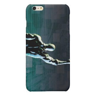 Overcoming Obstacles with Man Achieving Success Glossy iPhone 6 Plus Case