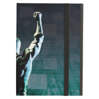 Overcoming Obstacles with Man Achieving Success iPad Air Case