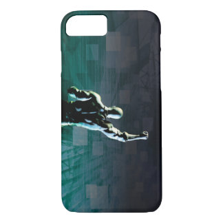 Overcoming Obstacles with Man Achieving Success iPhone 8/7 Case
