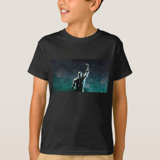 Overcoming Obstacles with Man Achieving Success T-Shirt