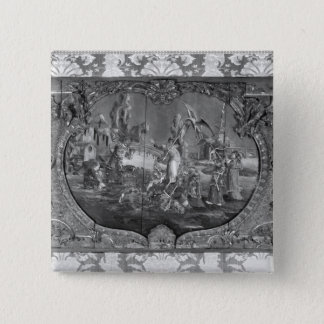 Overdoor panel with chinese subject, c.1730 pinback button