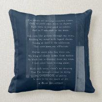Overdose Poem Throw Pillow