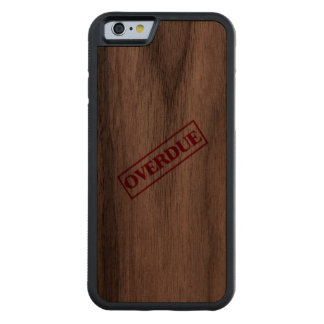 Overdue Stamp - Red Ink Carved Walnut iPhone 6 Bumper Case