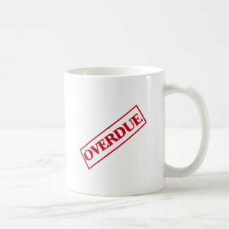 Overdue Stamp - Red Ink Coffee Mug