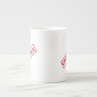 Overdue Stamp - Red Ink Tea Cup