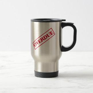Overdue Stamp - Red Ink Travel Mug