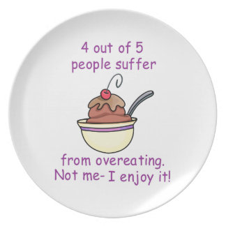 Overeating Party Plates