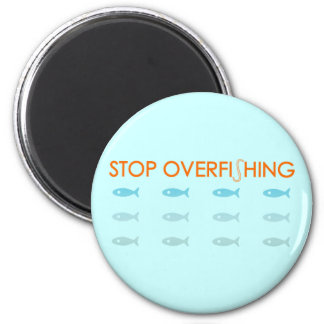 Overfishing 2 Inch Round Magnet