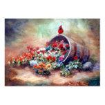 Overflowing Cardinal Art Card