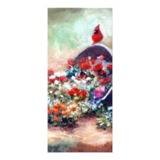 Overflowing Cardinal Rack Card