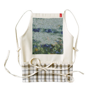 Overflowing river and greenery zazzle HEART apron