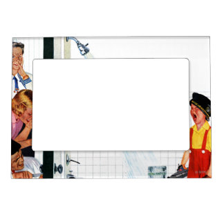 Overflowing Tub Photo Frame Magnets