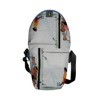 Overflowing Tub Messenger Bags