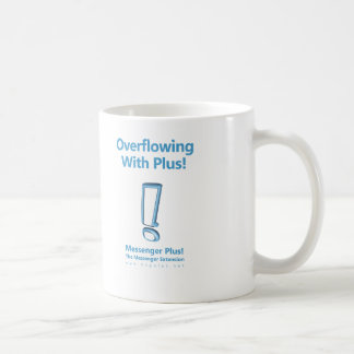 Overflowing With Plus! Classic White Coffee Mug