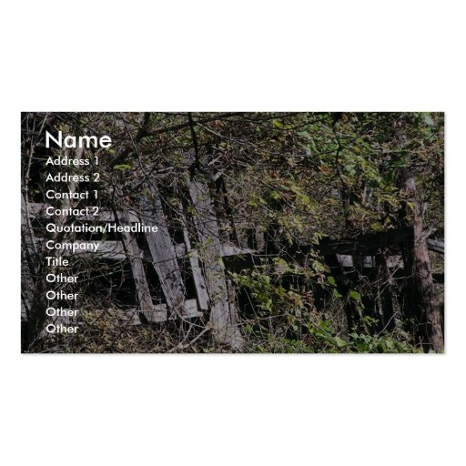 Overgrown Barn Near The Clinch River At Fort Black Business Card Templates