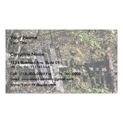 Overgrown Barn Near The Clinch River At Fort Black Business Card Template