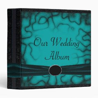 Overgrown Gothic Green & Black Garden Wedding 3 Ring Binder