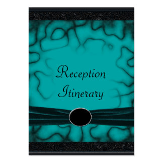 Overgrown Gothic Green & Black Garden Wedding Large Business Cards (Pack Of 100)