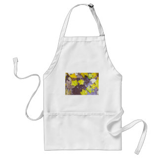 Overhead view of a wet autumn maple leaves closeup adult apron