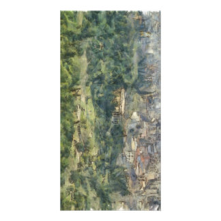 Overhead view of Athens in Greece Photo Card