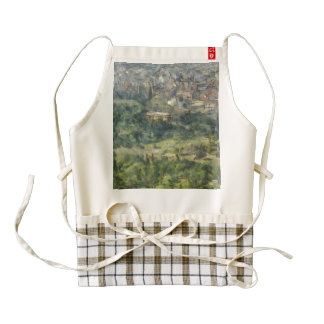 Overhead view of Athens Zazzle HEART Apron
