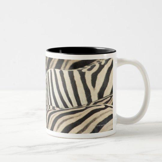 Overhead view of Burchell's Zebra Two-Tone Coffee Mug