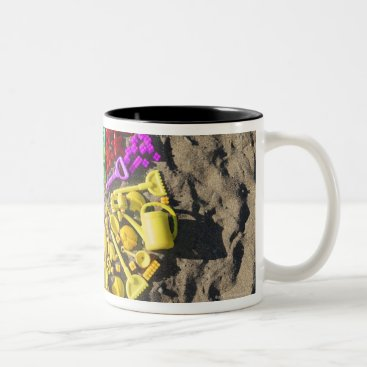 prophoto Overhead view of colourful children's plastic Two-Tone coffee mug