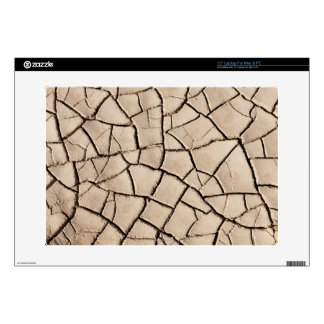 """overhead view of cracked earth on a desert decals for 15"""" laptops"""