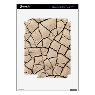 overhead view of cracked earth on a desert iPad 3 skin