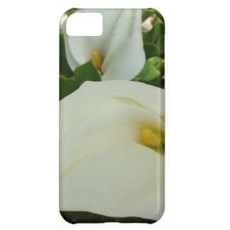 Overhead View Of Two Calla Lilies In A Garden iPhone 5C Case