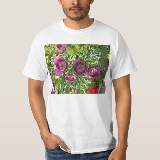 Overhead View Purple Tulips T-shirt