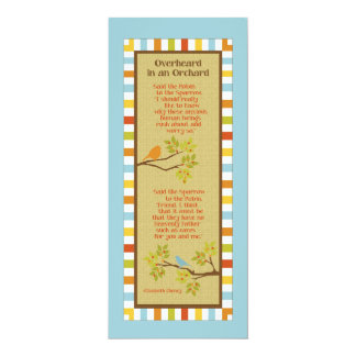Overheard in an Orchard 4x9.25 Paper Invitation Card