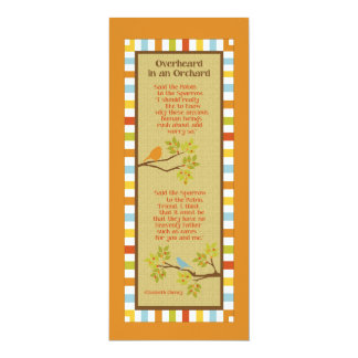 Overheard in an Orchard (Robin & Sparrow) Bookmark Card