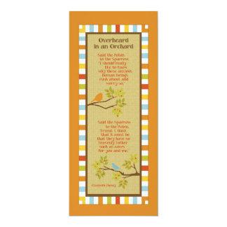 Overheard in an Orchard (Robin & Sparrow) Bookmark Card