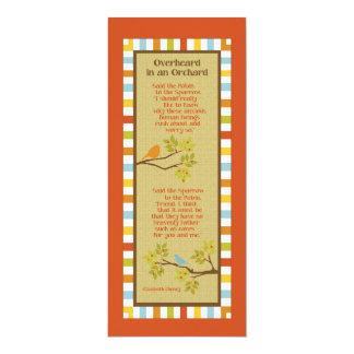 Overheard in an Orchard (Robin & Sparrow) Bookmark Custom Announcement