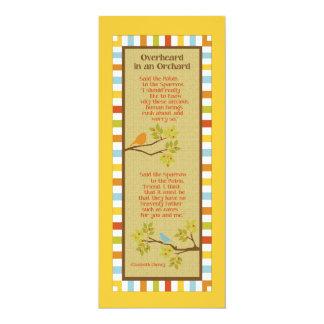 Overheard in an Orchard (Robin & Sparrow) Bookmark Invite