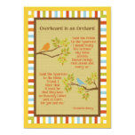 """""""Overheard in an Orchard"""" (Robin & Sparrow) Poem Personalized Announcement"""